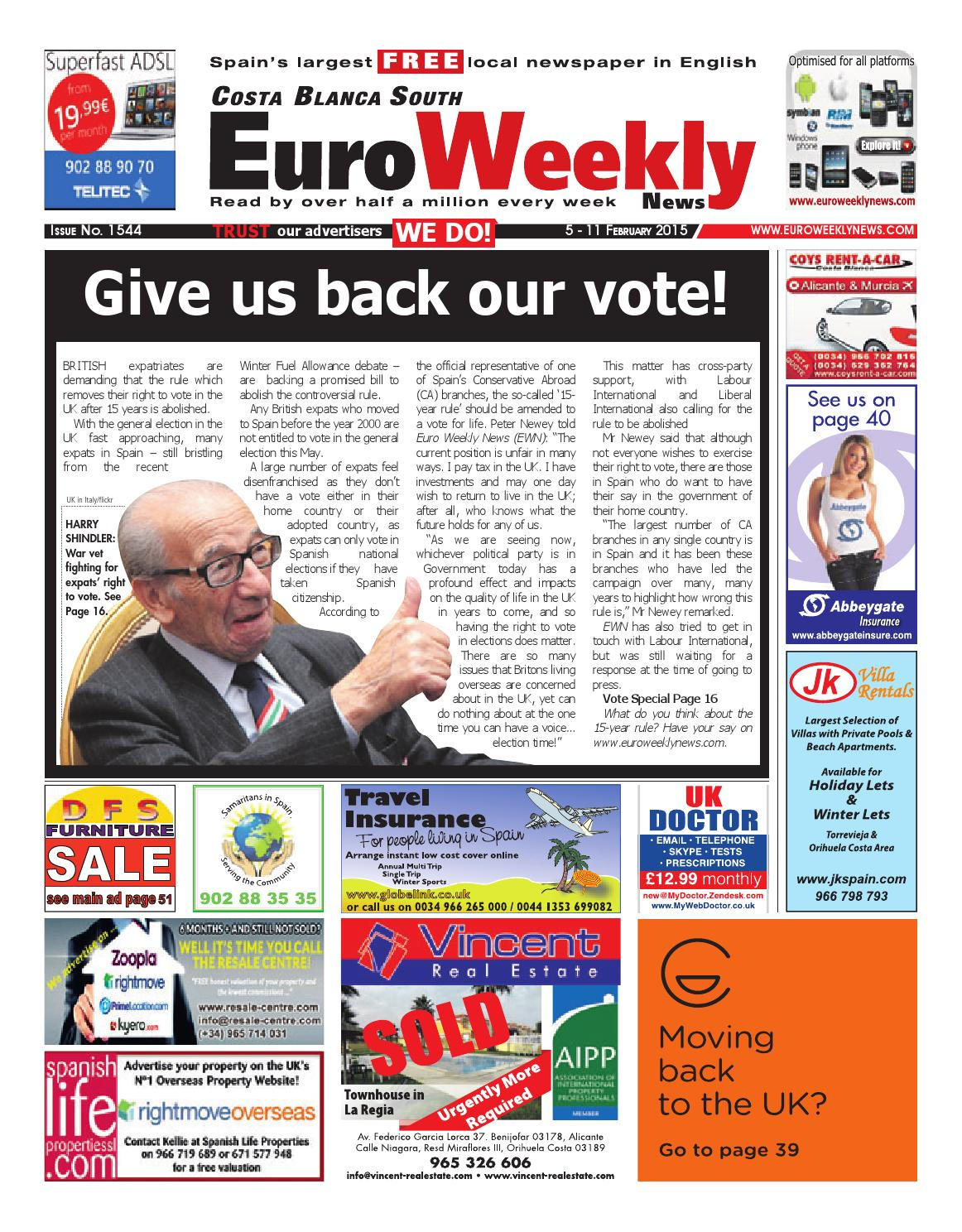 Euro Weekly News   Costa Blanca South 40   40 February 20140 Issue 14044