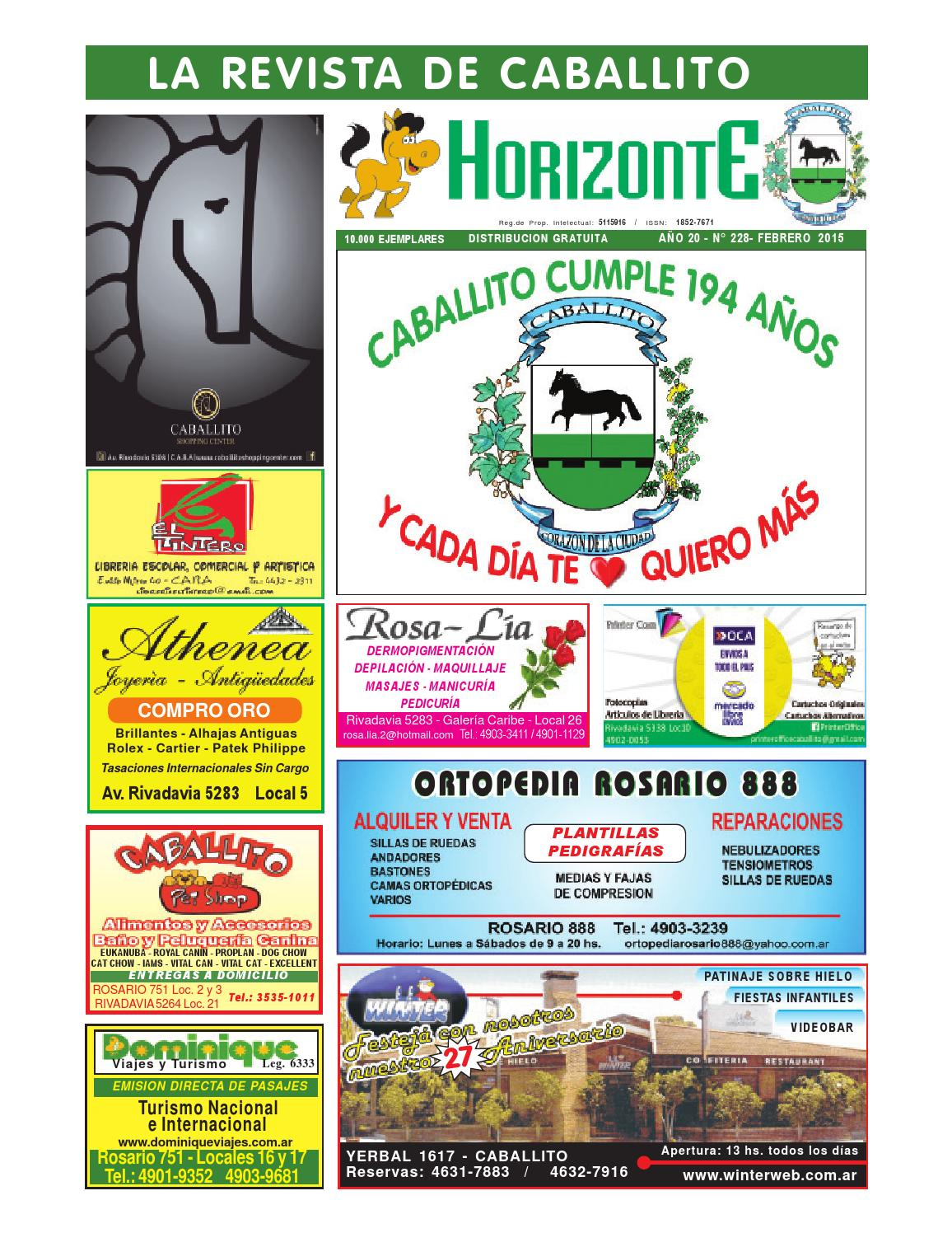 Horizonte 228 febrero año 2015 by Revista Horizonte Caballito - issuu