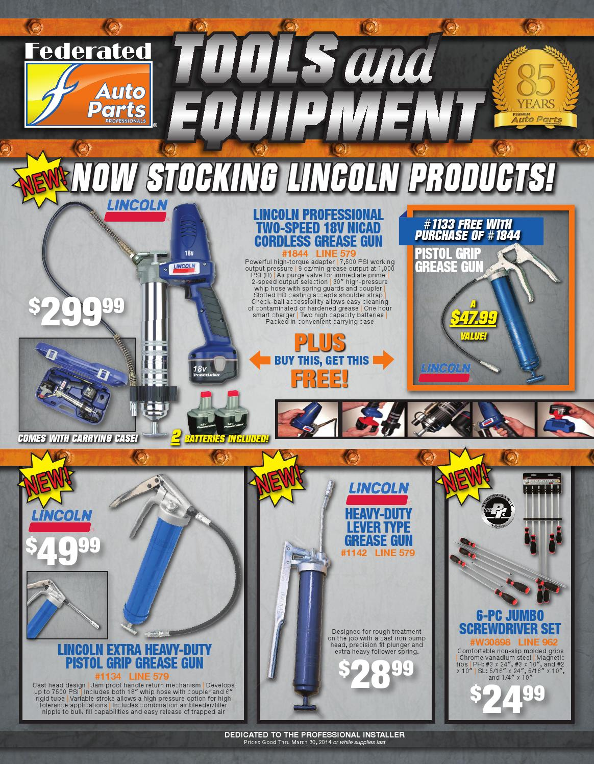 Fisher Auto Parts Tool Flyer 1st Quarter 2014 By Alicia Dawn Issuu 12 Volt Automotive Diode Blade On Wiring Grommets Tools