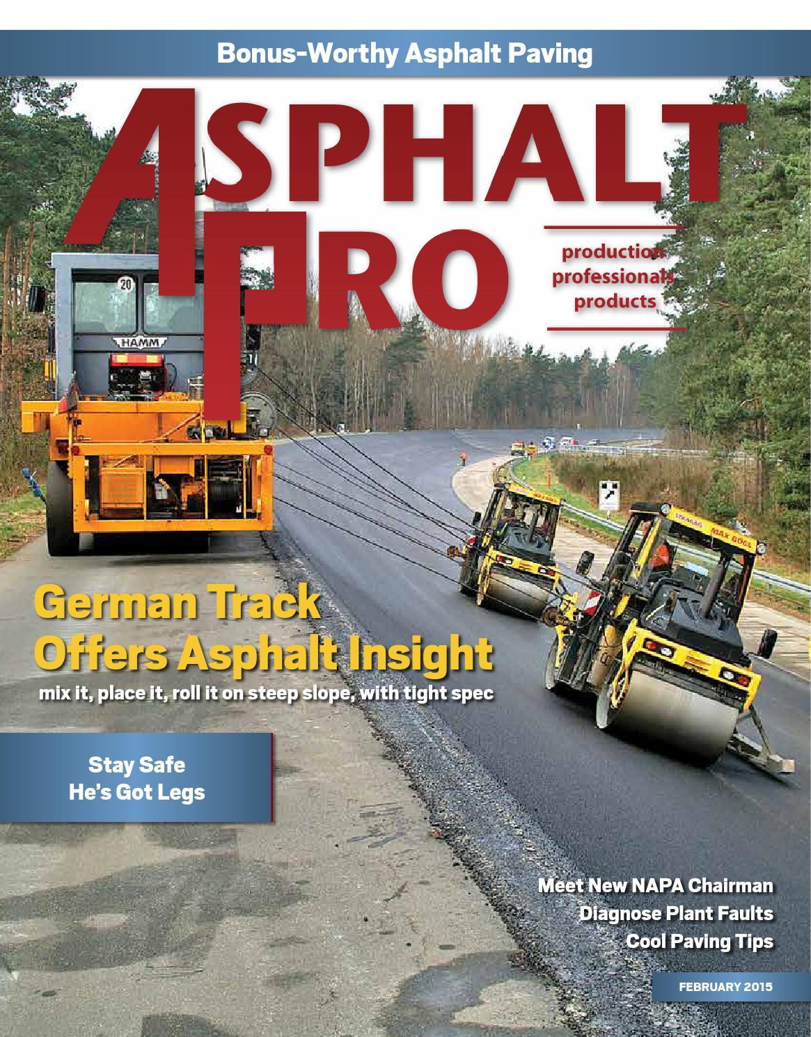 Asphalt Pro - February 2015 by Asphalt Pro LLC - issuu