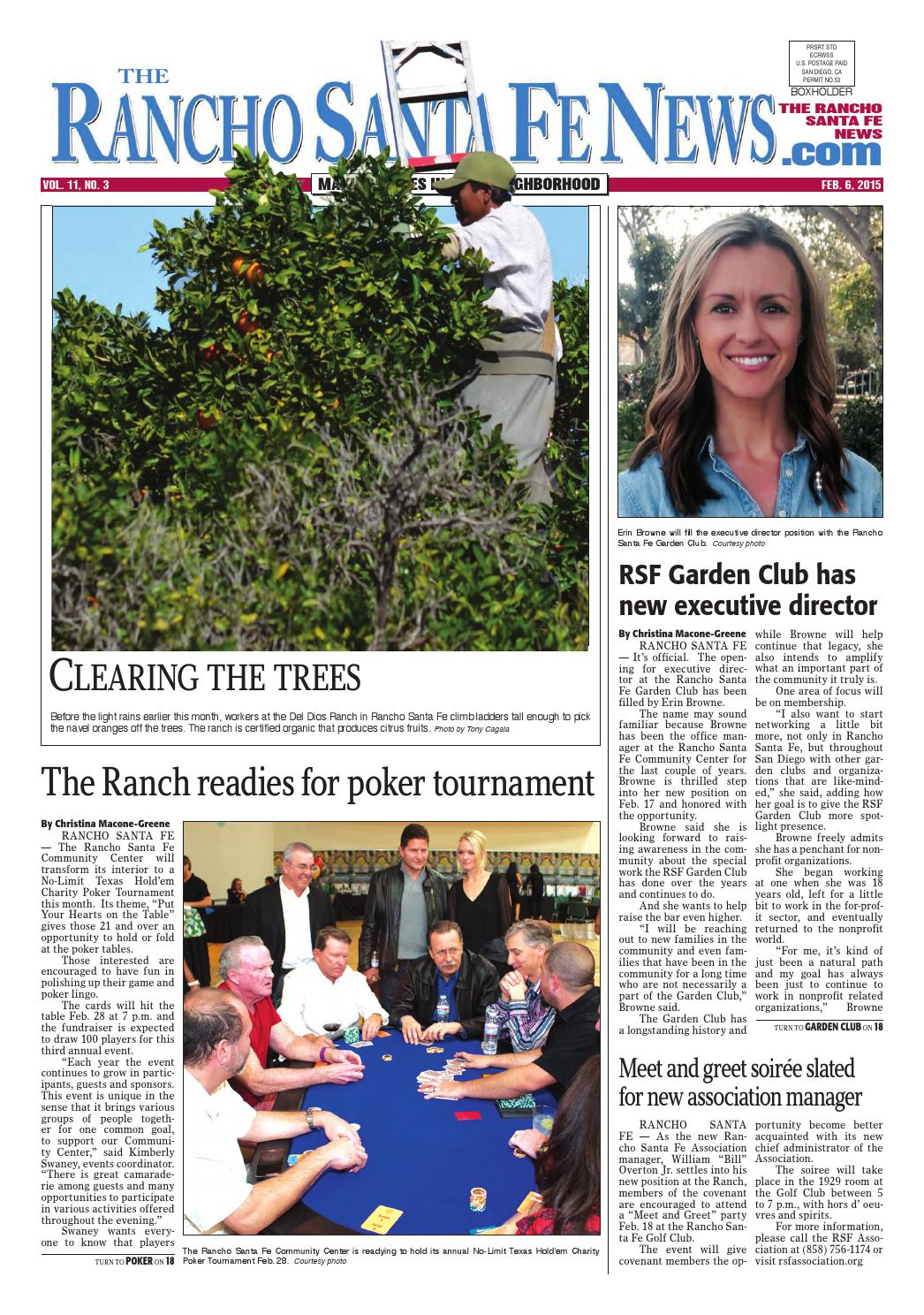The Rancho Santa Fe News February 6 2015 By Coast News Group Issuu