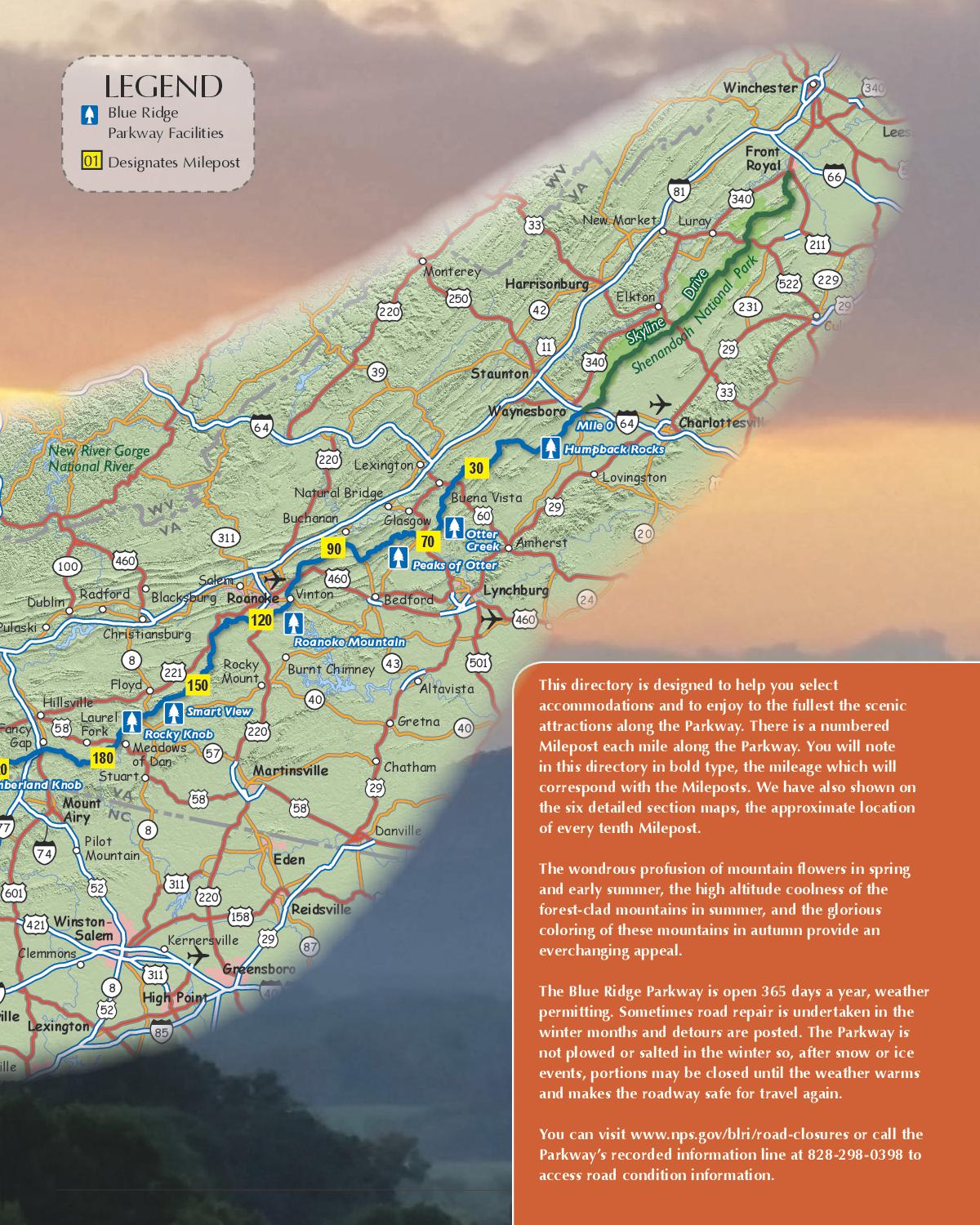 Blue Ridge Parkway Directory & Travel Planner - 66th ...