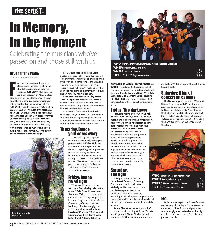 North Coast Journal 02-05-15 Edition