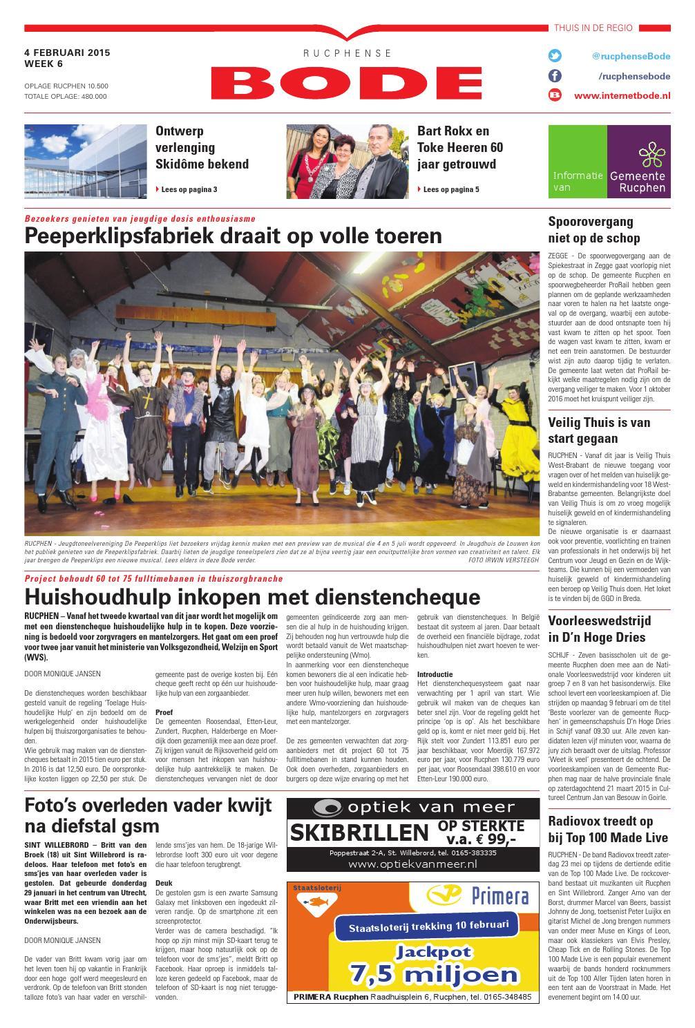 Blokker Dukaten Geldig Tot.Rucphense Bode 04 02 2015 By Uitgeverij De Bode Issuu