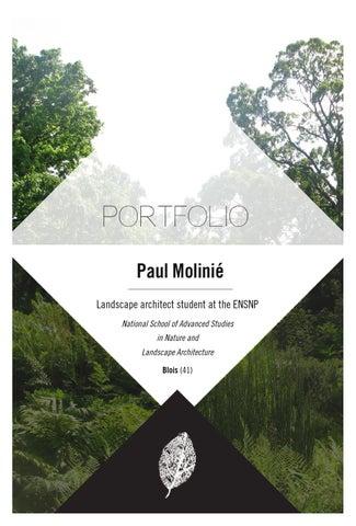 Paul Molinié, Landscape architect student, portfolio by