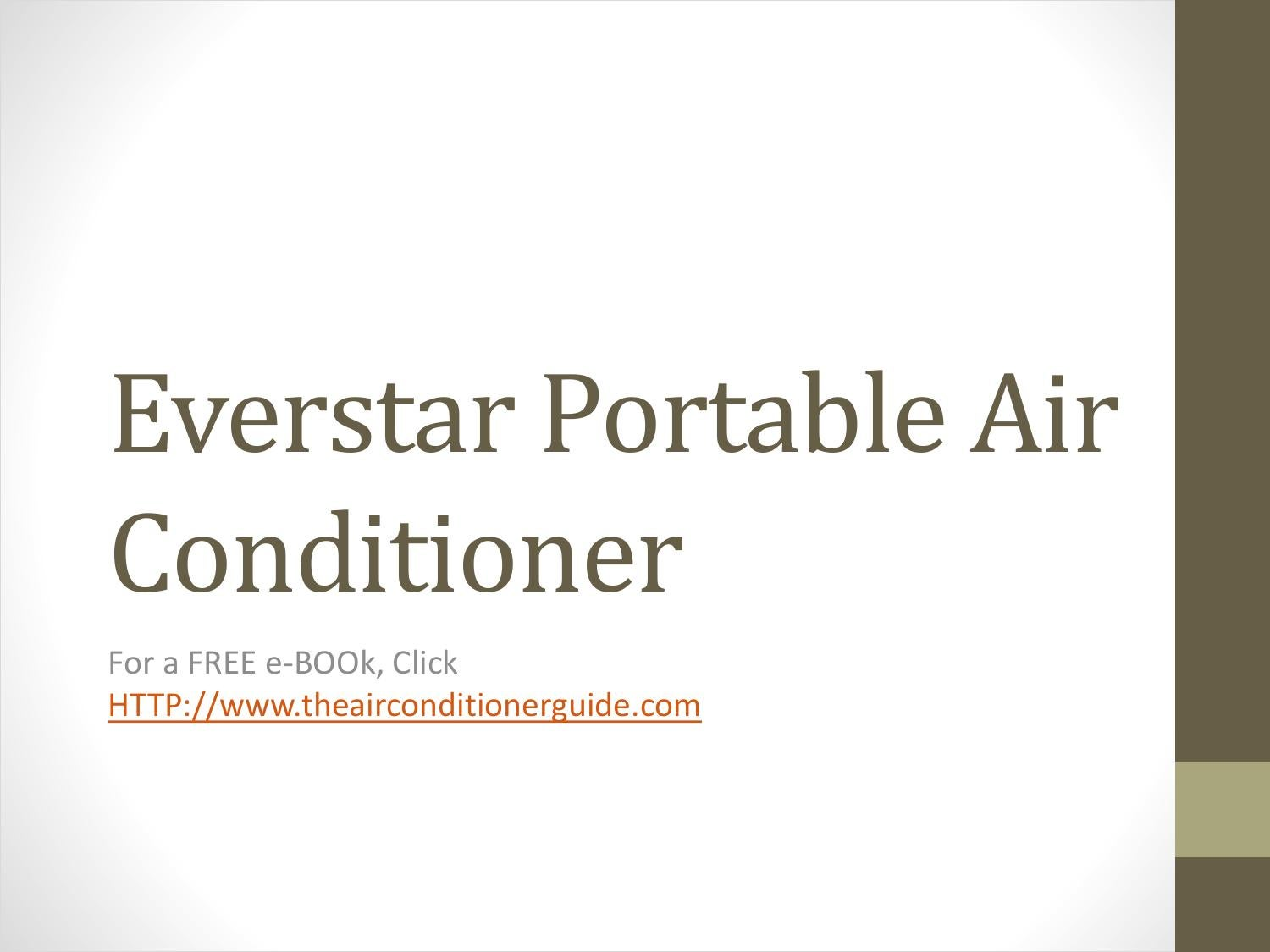 Everstar Portable Air Conditioner By Jane Dabad Issuu