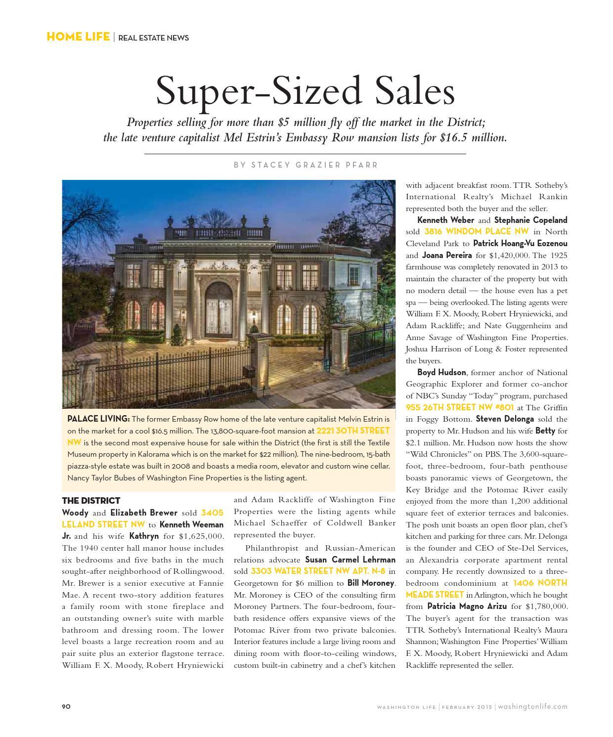 Washington Life Magazine - February 2015 by Washington Life Magazine
