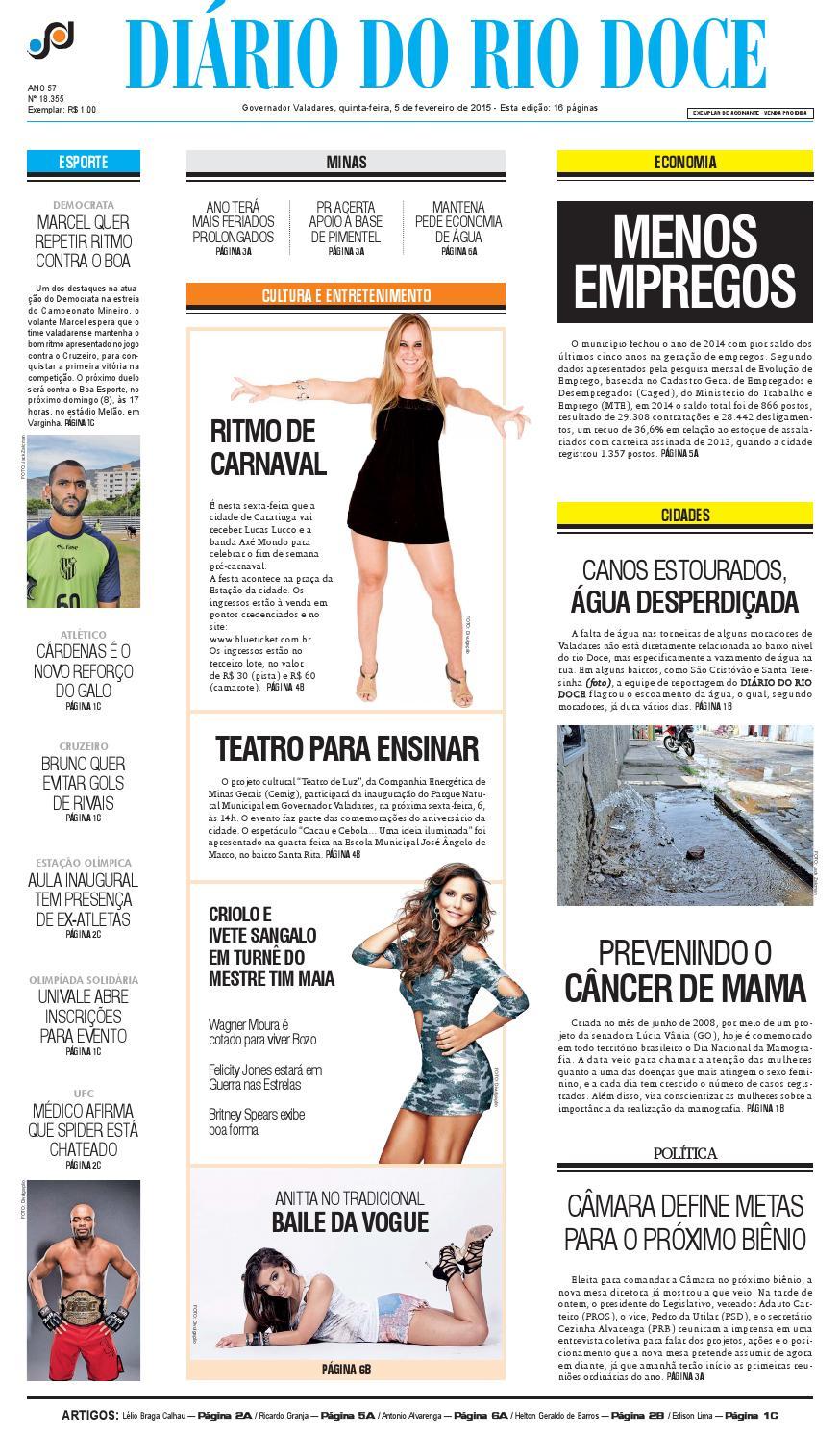 Diário do Rio Doce - Edição de 05 02 2015 by Diário do Rio Doce - issuu 3eb0abcbd24