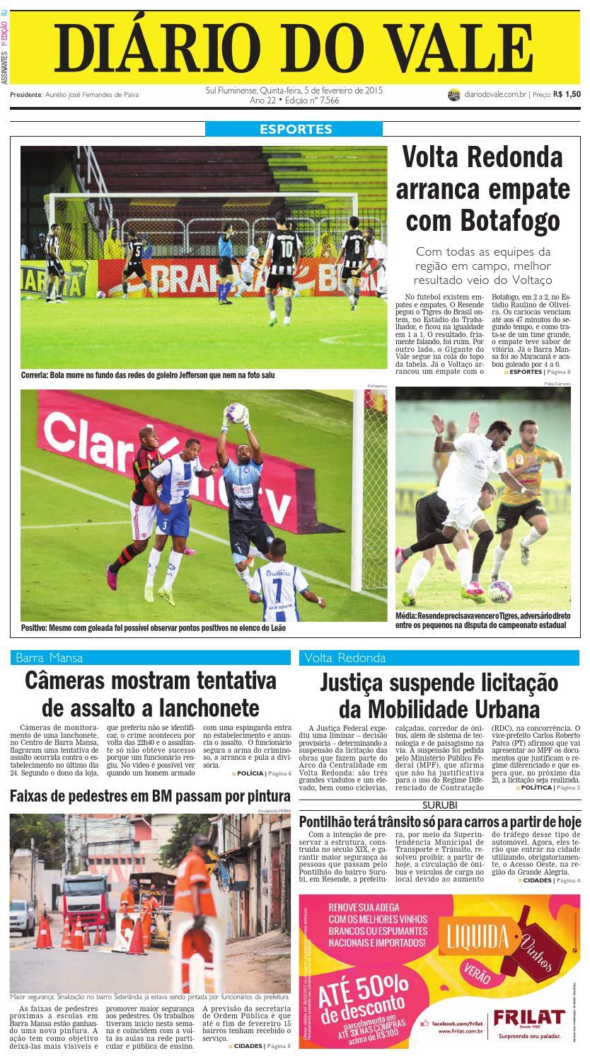 7566 diario quinta feira 05 02 2015 by Diário do Vale - issuu 0231a738a96ce