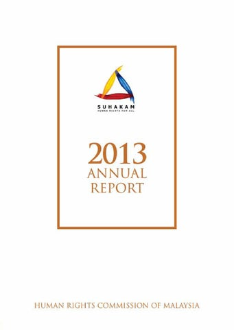 Suhakam annual report 2013 by worldwide business issuu page 1 malvernweather Image collections