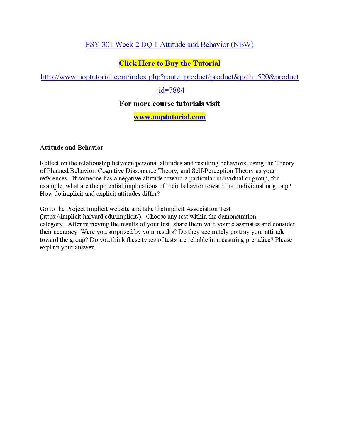 psy 301 week 2 dq 1 attitude and behavior by fgfgjhkhl issuu