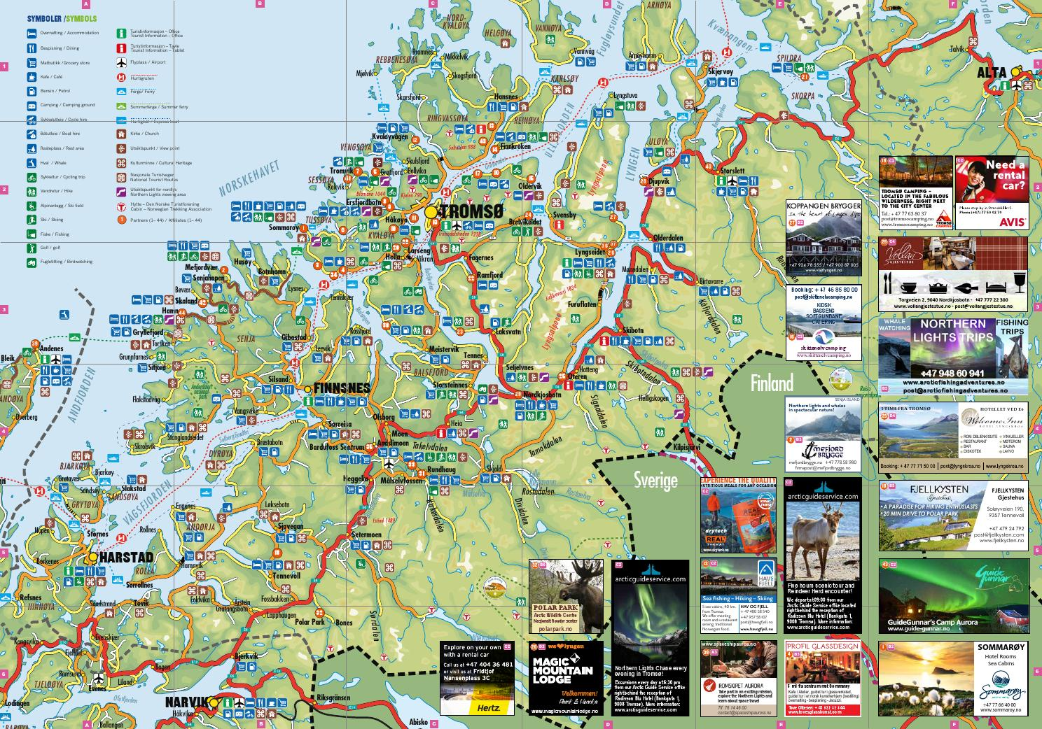 Tromso Region Kart Map By Visit Tromso Region As Issuu