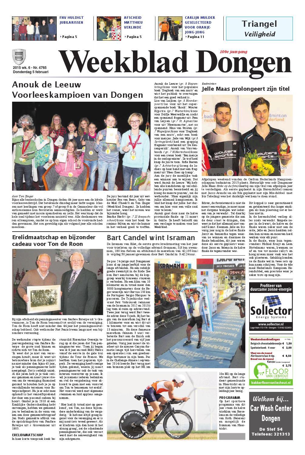 Weekblad Dongen 05 02 2015 By Uitgeverij Em De Jong Issuu