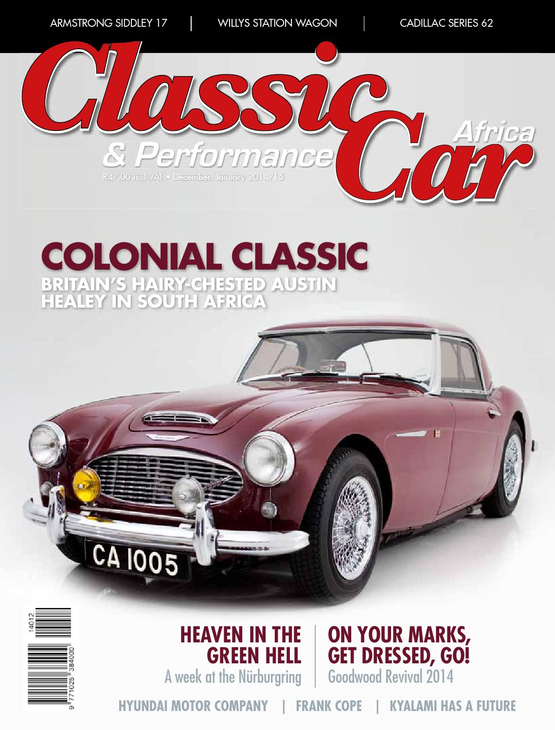 Classic performance car africa december january 2015