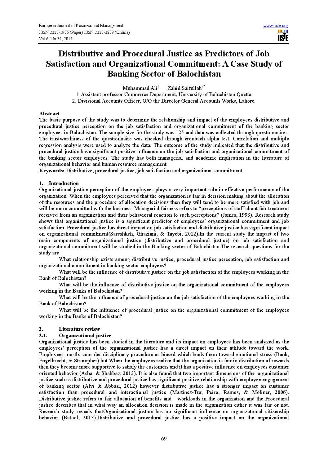 Distributive justice case study