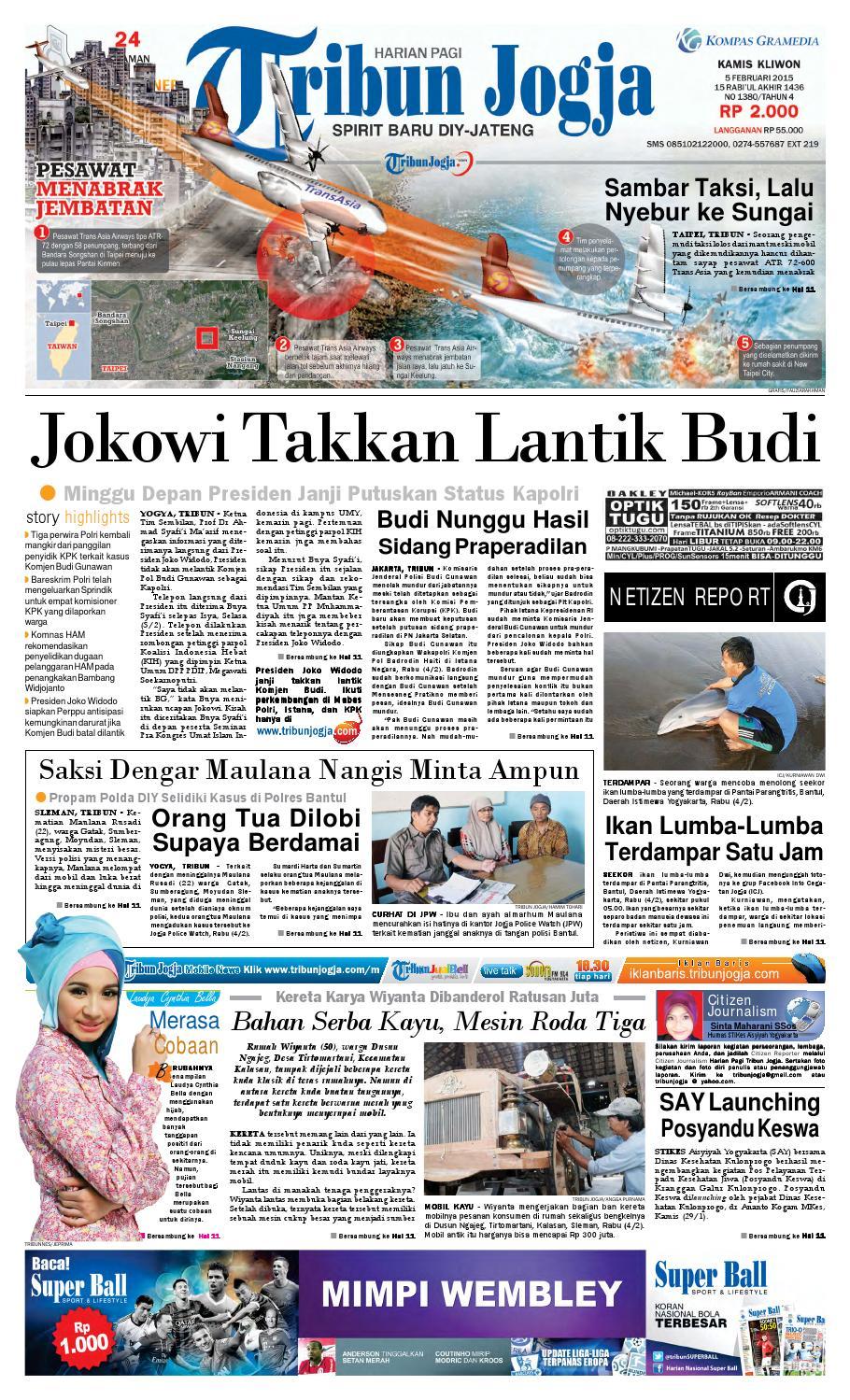 Tribunjogja 05 02 2015 By Tribun Jogja Issuu Fcenter Meja Rias Siantano Mr 905 Jawa Tengahdiyjawa Timur