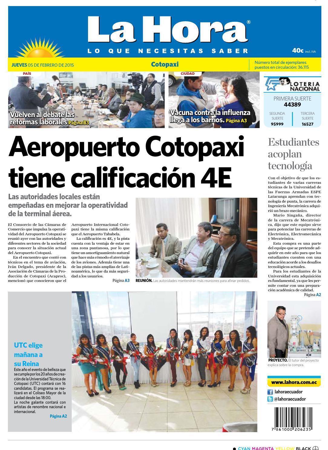 Cotopaxi 5 febrero 2015 by Diario La Hora Ecuador - issuu