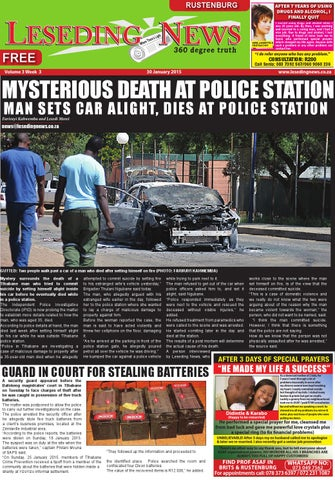 Leseding news rustenburg 20 january 2015