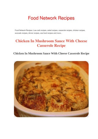 Chicken In Mushroom Sauce With Cheese Casserole Recipe By Food