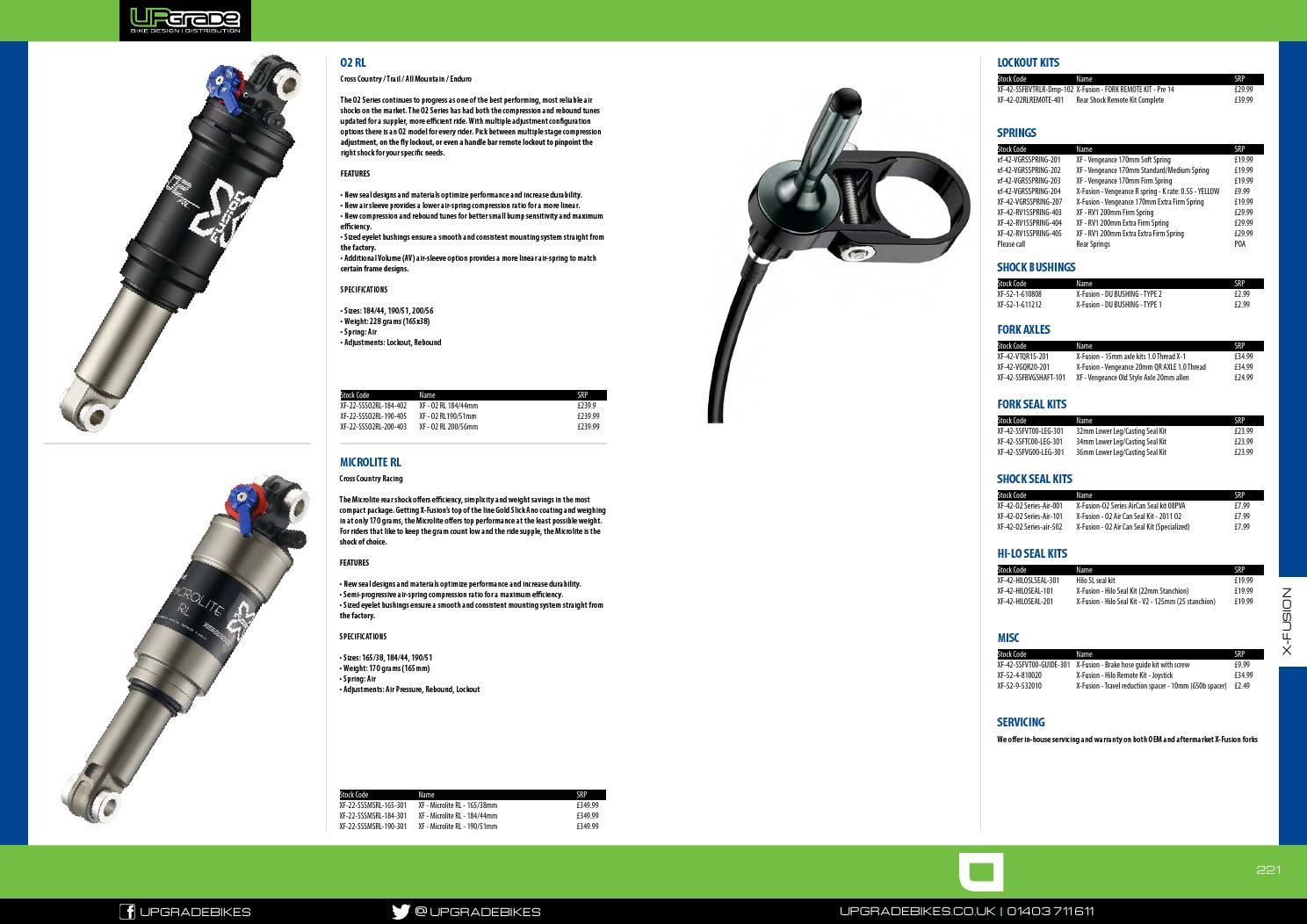 New X-Fusion O2 RL Rear Shock Remote Kit
