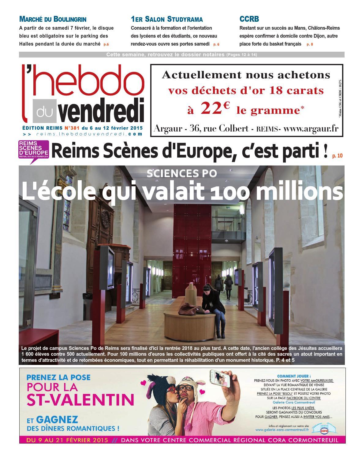 L 39 hebdo du vendredi reims 381 by kilkoa issuu - Salon de l etudiant reims ...