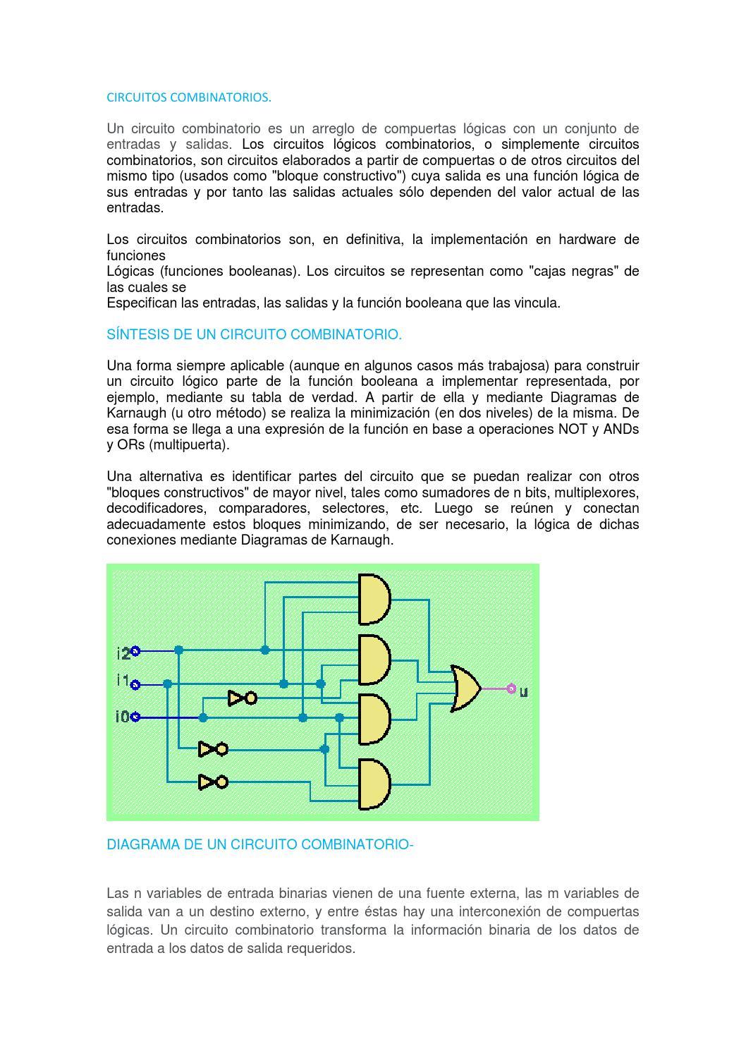 Circuito Y Sus Partes : Circuitos combinatorios by yeickson areiza issuu