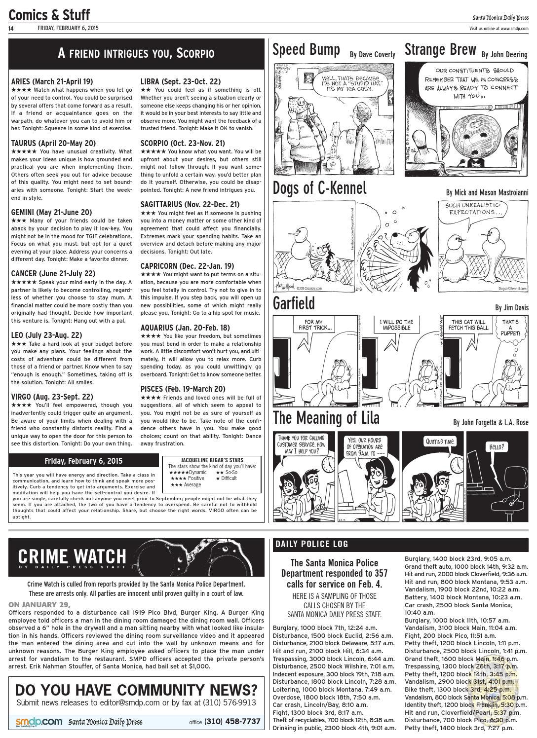 Santa Monica Daily Press, February 6, 2015