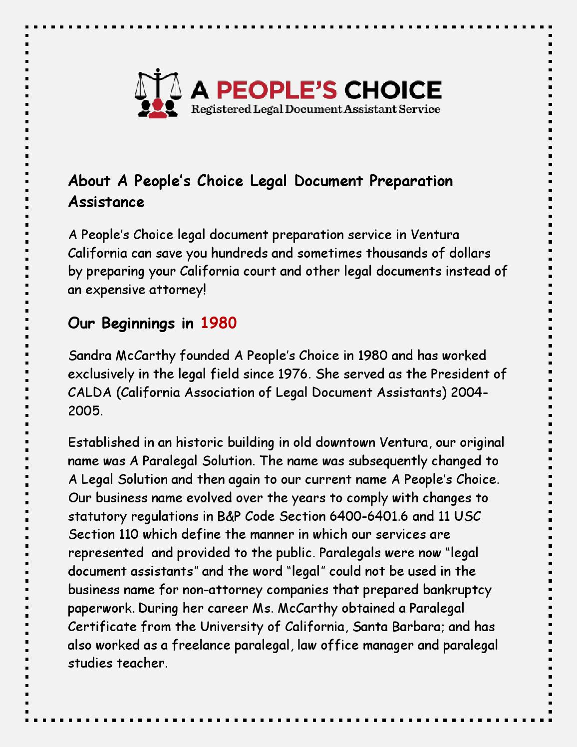 California Civil Litigation And Procedures By Apeopleschoice Issuu - Legal document assistant