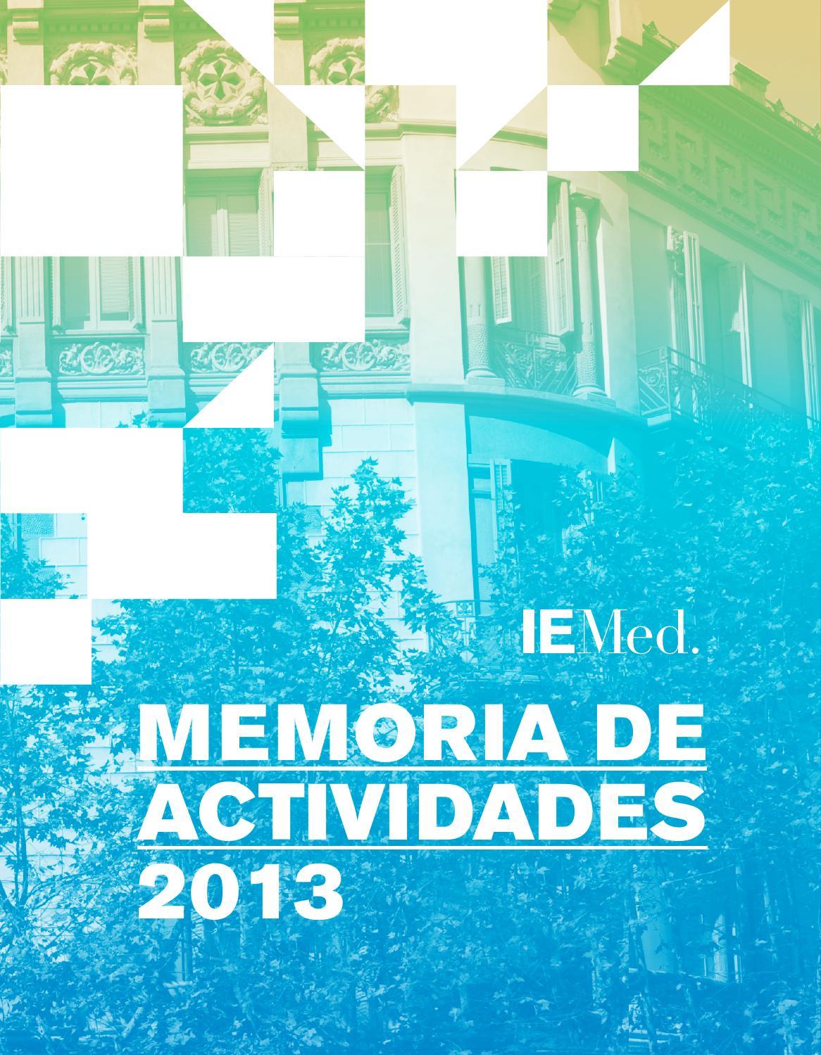 Memoria de actividades 2013 by IEMed (European Institute of the ...