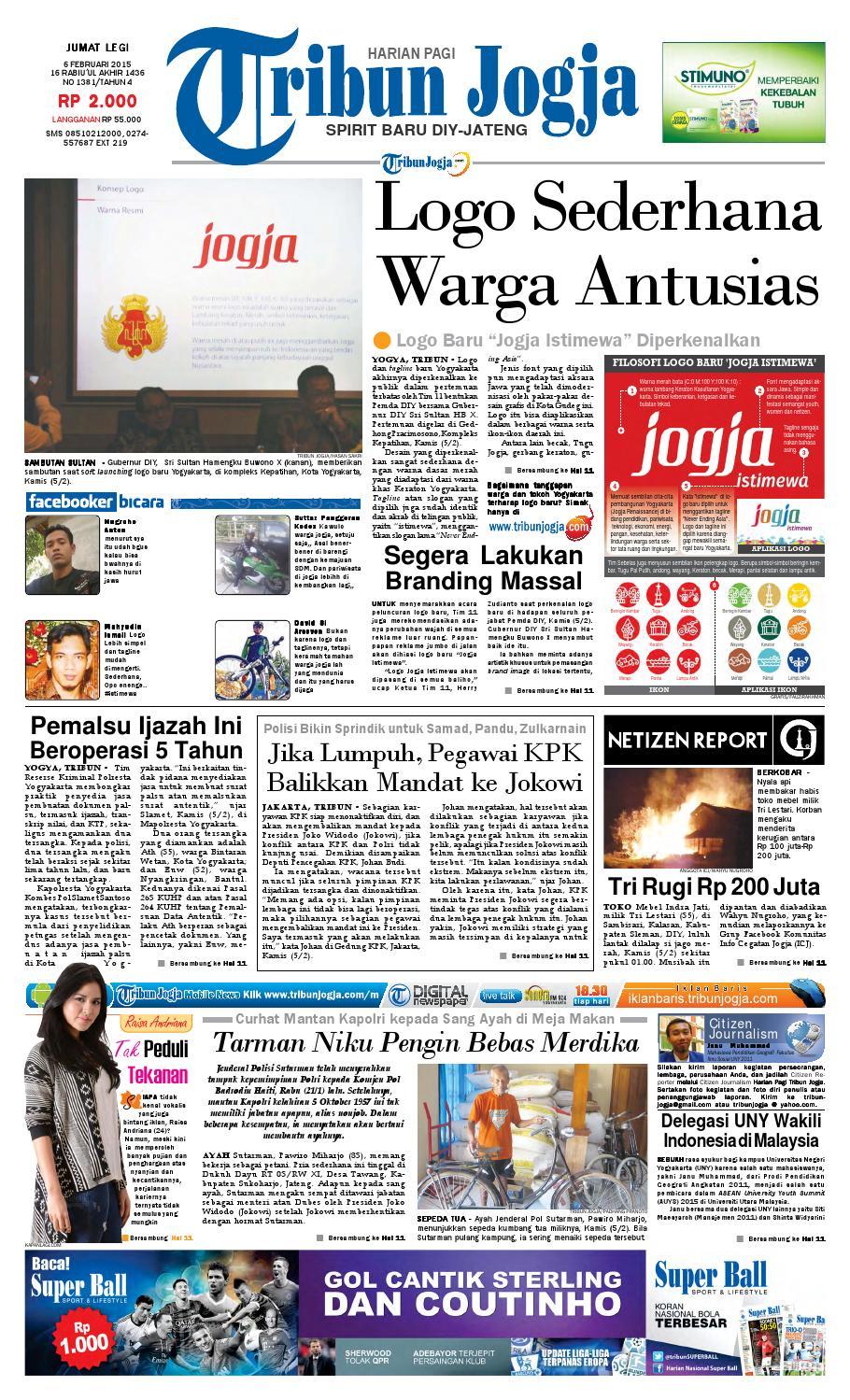 Tribunjogja 06 02 2015 By Tribun Jogja Issuu Produk Ukm Bumn Pusaka Coffee 15 Pcs Kopi Herbal Nusantara Free Ongkir Depok Ampamp Jakarta