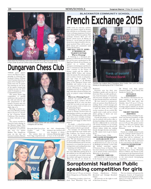 Dungarvan observer 30 1 2015 edition by Dungarvan Observer