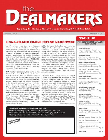 Dealmakers Magazine February 6 2015 By The Dealmakers