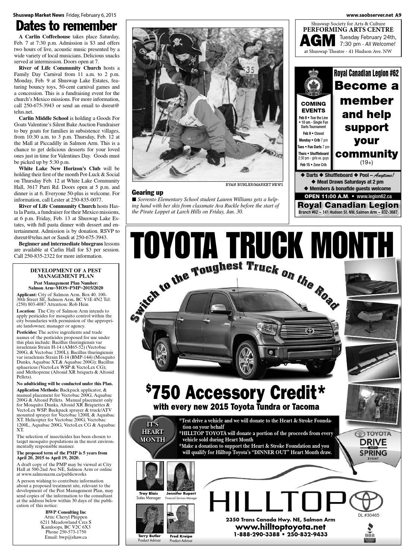 Salmon Arm Toyota >> Salmon Arm Observer February 06 2015 By Black Press Media