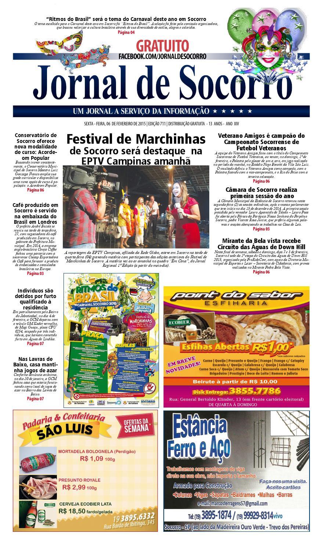 96ca9a87fc Jornal de Socorro e Regional Edição 711 dia 06 02 2015 by Jornal de Socorro  - issuu