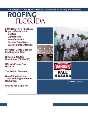 A Publication Of The Frsa Florida S Ociation Roofing Professionals