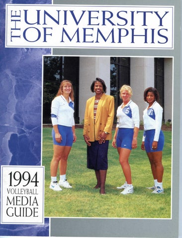 7c46ffbf4109 1994 Memphis Volleyball Media Guide by University of Memphis ...