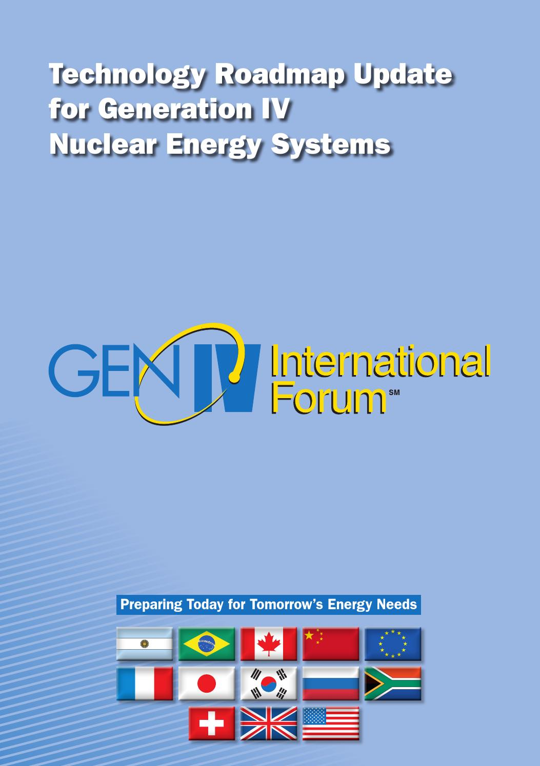 Technology Roadmap Update For Generation Iv Nuclear Energy Systems Generator Avr Circuit Source Abuse Report Diesel Gen International Forum By John A Shanahan Issuu