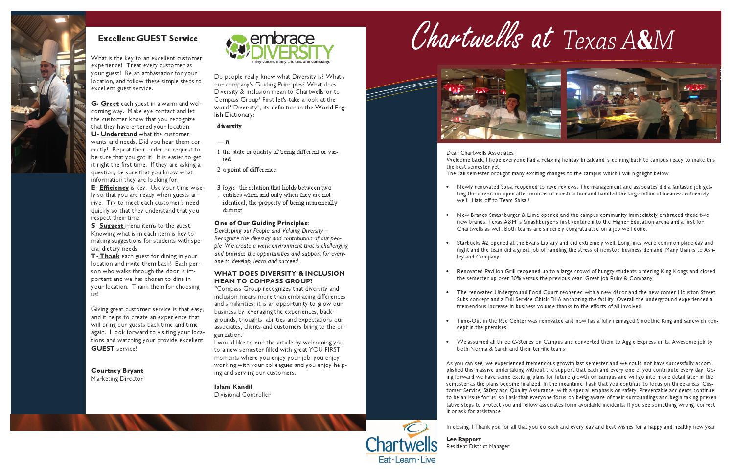 Chartwells Newsletter by Chartwells Dining - Issuu