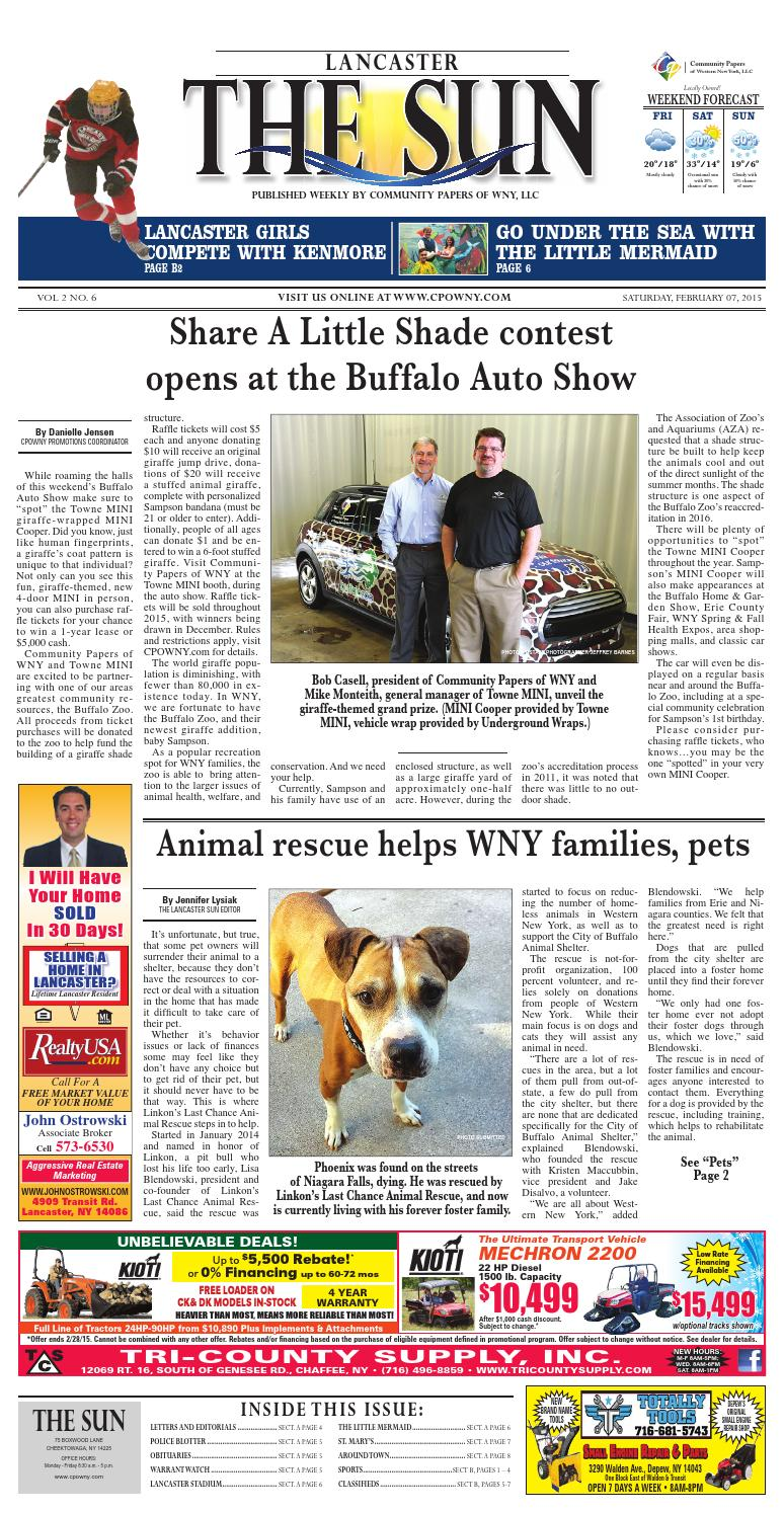 Lancaster Sun 02-08-2015 by Community Papers of WNY - issuu