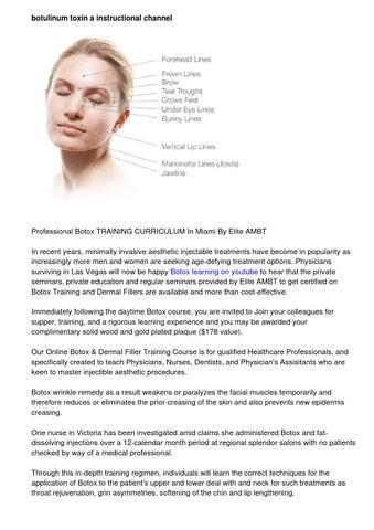 subscribe for botox training videos by Edwina Crogier - issuu