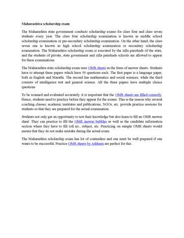 Maharashtra scholarship exam by Addmen Group - issuu