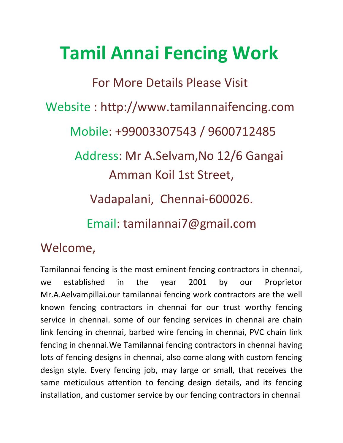Chain link fencing in chennai by selvam tamilannai issuu