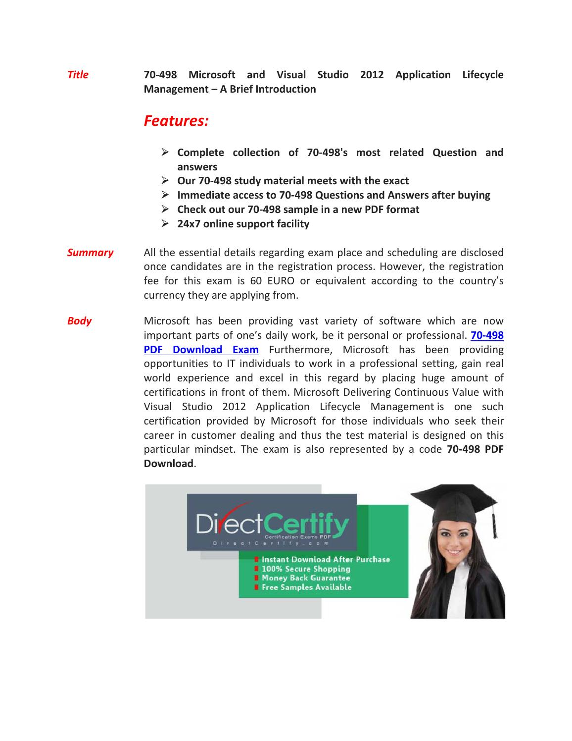 70-498 Exam Questions & Answers by markwarne - issuu