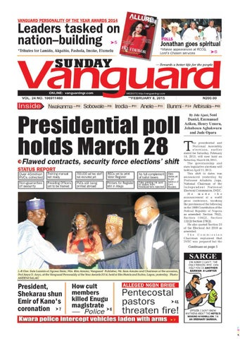 Presidential Poll Holds March 28 By Vanguard Media Limited