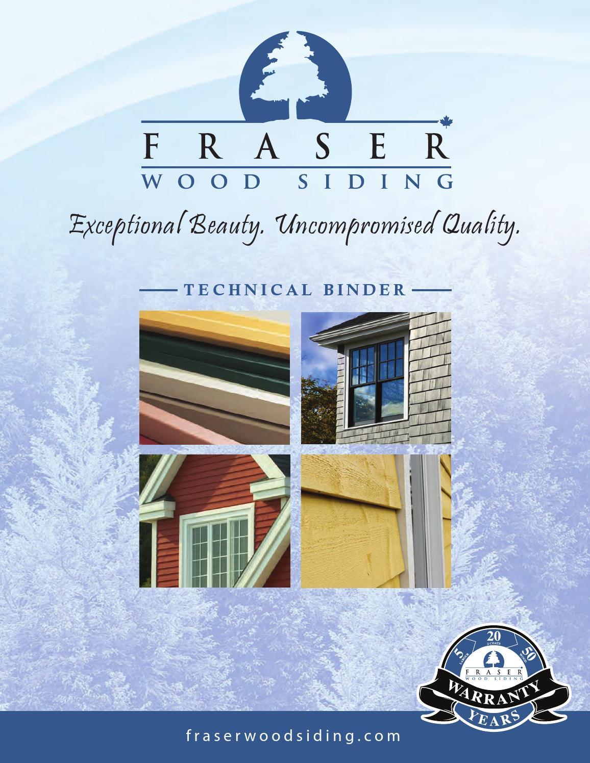 Fws Tech Binder July2014 Eng Web By Fraser Wood Siding Issuu