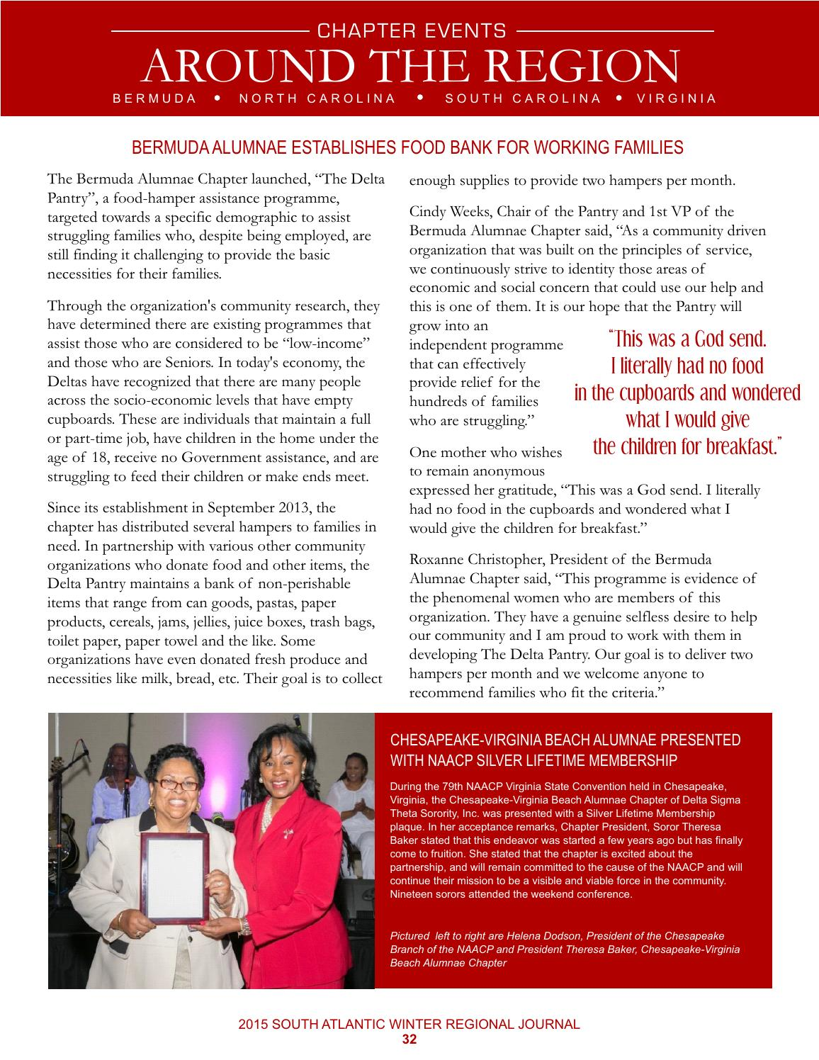 DST South Atlantic Regional Journal - Winter 2015 by DST South