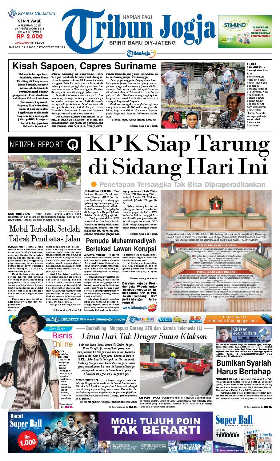 Tribunjogja 09 02 2015 By Tribun Jogja Issuu Produk Ukm Bumn Gula Jawa 1 2 Kg Free Ongkir Area Depok