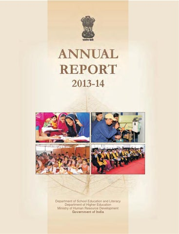 6e0700f8be0 Ministry of Human Resource Development Report 2013-14 by KhonjelOrg ...