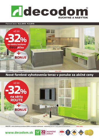 61e53e009807 Akcia február marec 2015 by Decodom - Slovenský výrobca nábytku - issuu