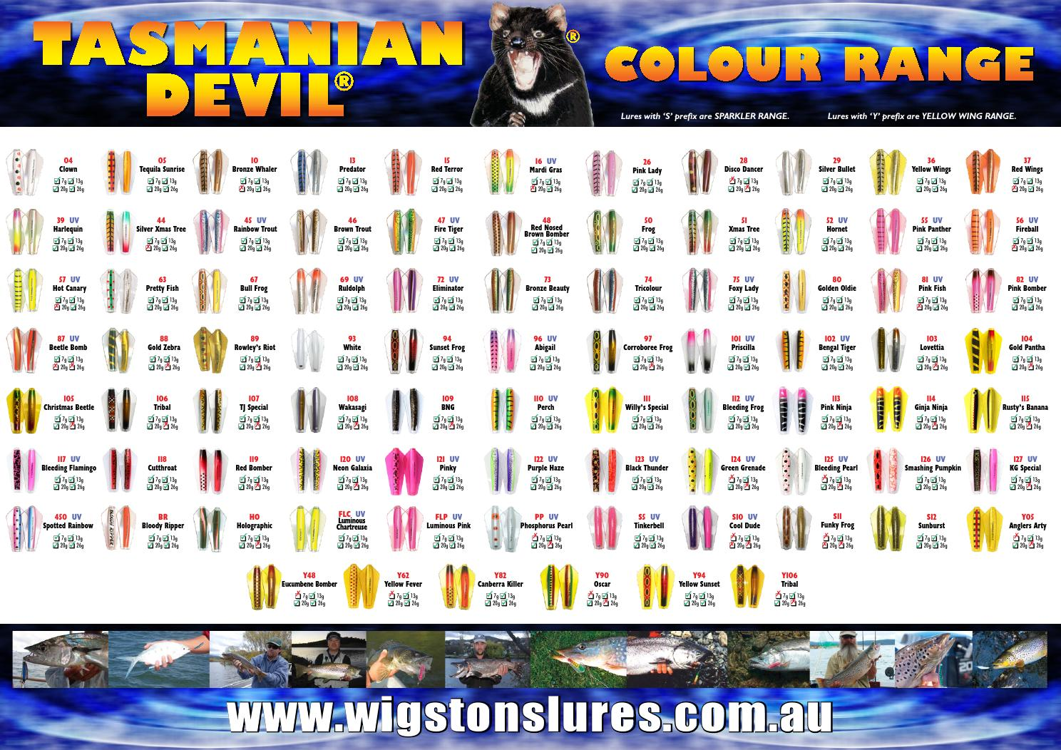 Tasmanian Devil 55 UV Pink Panther Fishing Lure Tassie 7g 13g 20g 26g